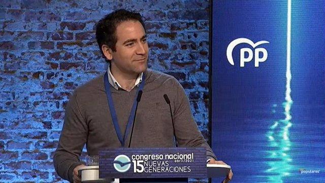 El secretario general del PP, Teodoro García Egea, clausura el XV Congreso Nacional de Nuevas Generaciones que se celebra durante este fin de semana en Madrid