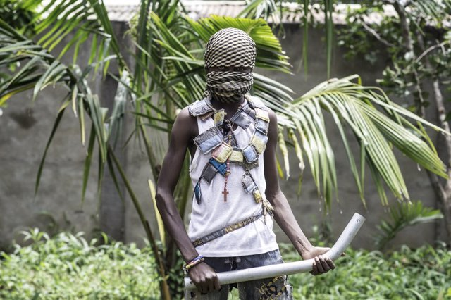 Archivo - Niños soldado en República Centroafricana