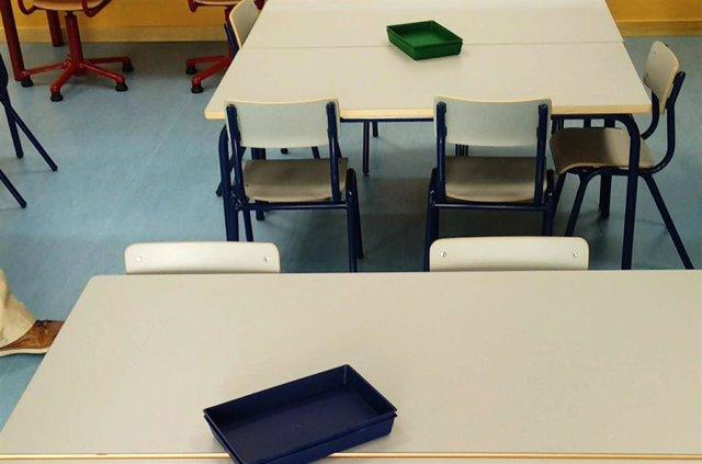 Archivo - Un aula de un colegio
