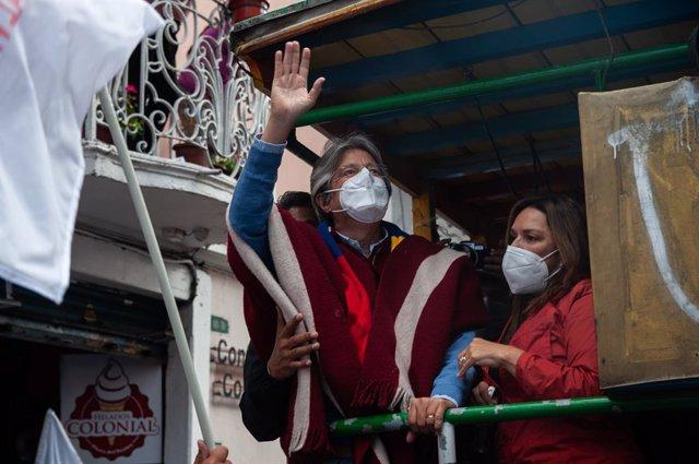 El candidato presidencial ecuatoriano Guillermo Lasso