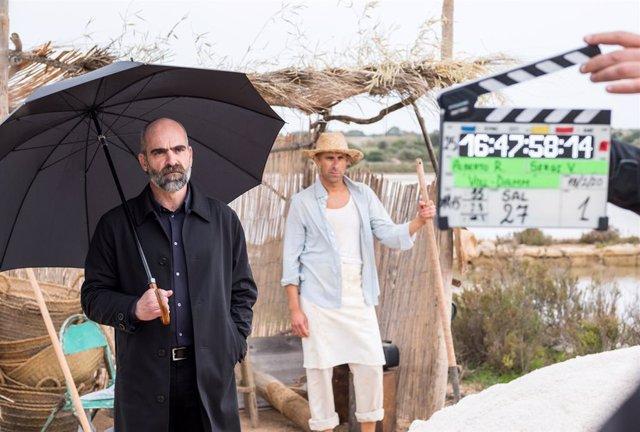 Archivo - Arxiu - L'actor Luis Tosar en el rodatge.