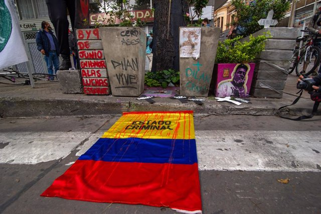 Archivo - Protestas contra las masacres en Colombia