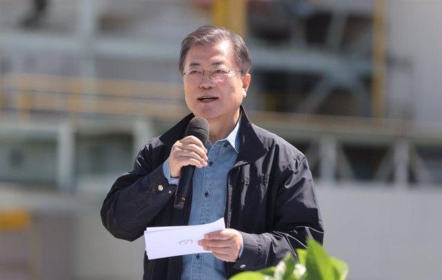 Moon Jae In, presidente de Coreal de Sur.