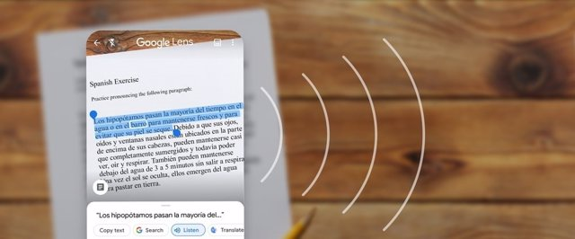 Reconocimiento de texto en Google Lens.