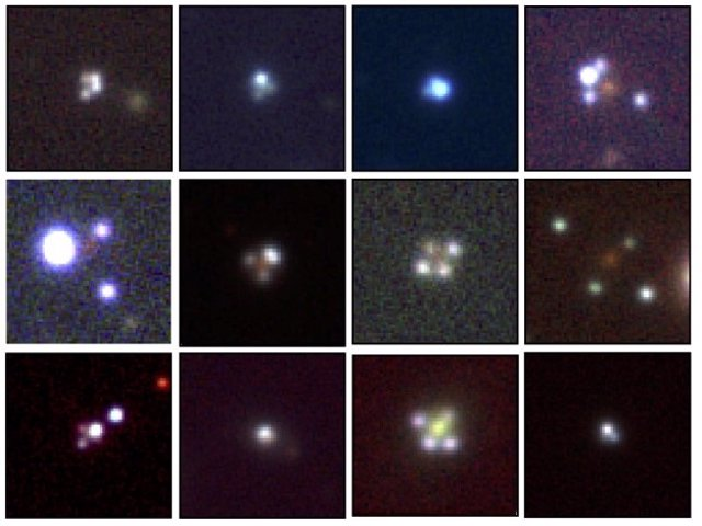 Aspecto de las doce nuevas cruces de Einstein descubiertas con Gaia