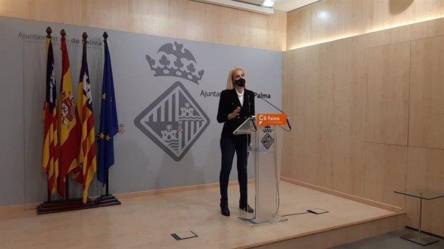 Archivo - La portavoz de Cs en el Ayuntamiento de Palma, Eva Pomar.