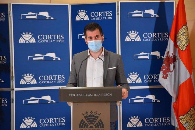 Luis Tudanca en la rueda de prensa ofrecida este lunes