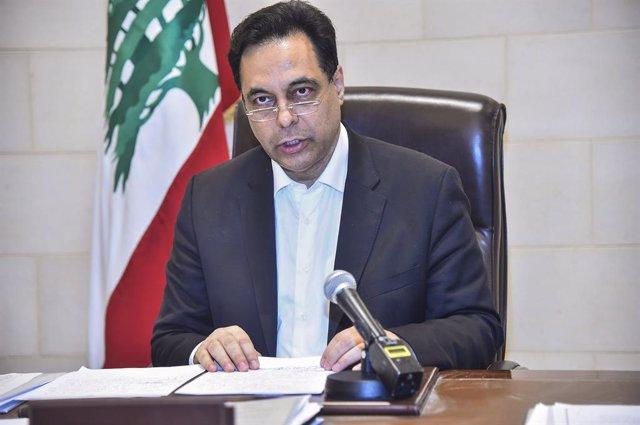 Archivo - El primer ministro en funciones de Líbano, Hasán Diab