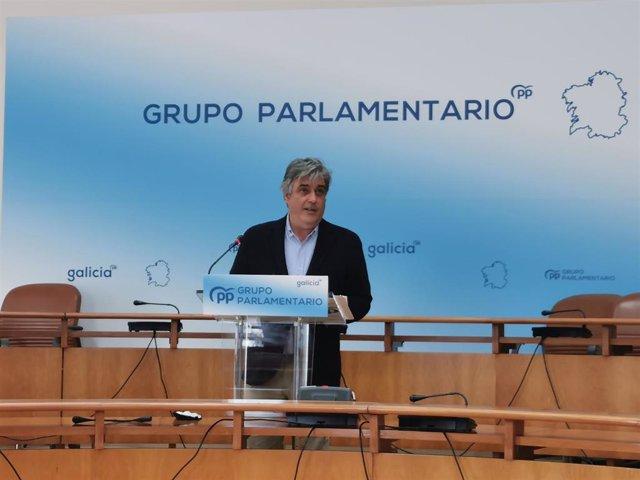 El portavoz del PPdeG en el Parlamento gallego, Pedro Puy.