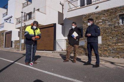 Diputación.-Diputación dota a los vecinos de la barriada de 'Los Garcías' de Arboleas de red de saneamiento