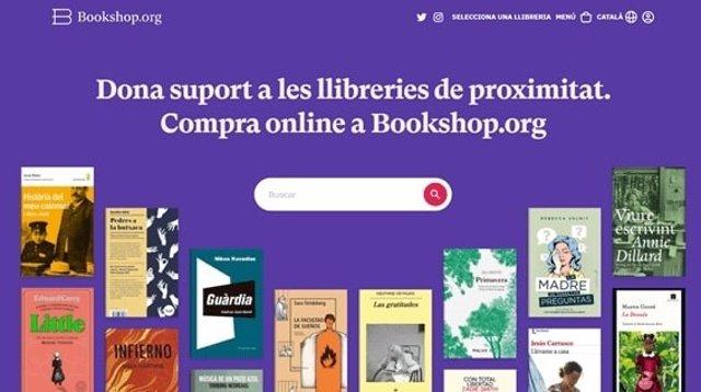 Portal de la plataforma de venda de llibres en línia de llibreries de proximitat, Bookshop.org.