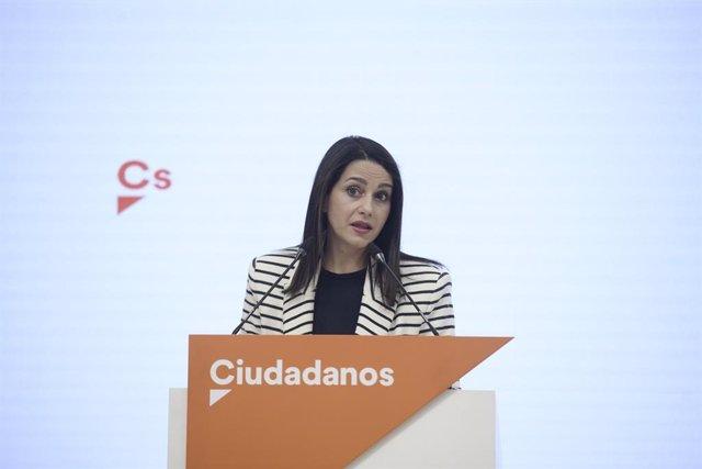 La presidenta de Ciutadans, Inés Arrimadas.