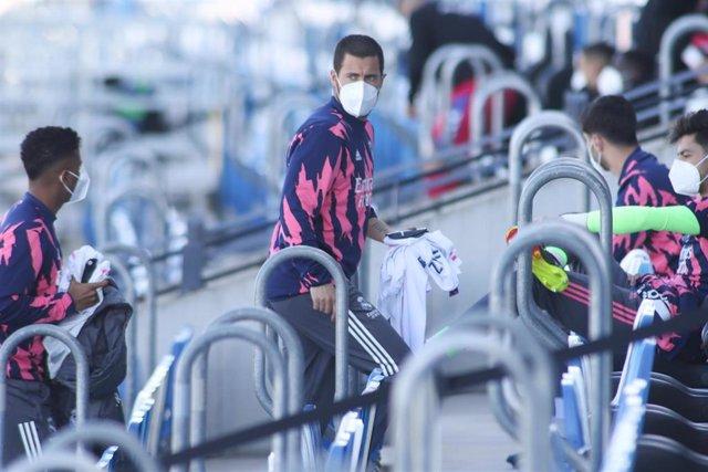Eden Hazard con el Real Madrid