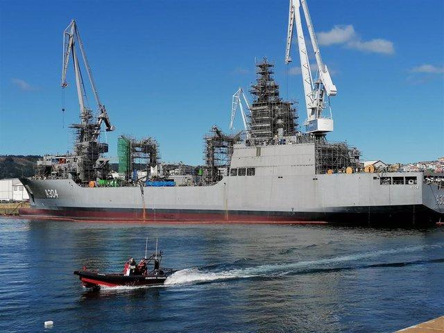 Archivo - Buque logístico que Navantia Ferrol construye para la Armada de Australia.