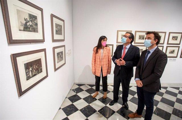 Inauguración de la exposición 'Las mujeres de Goya', en la sala 'El Comercial' de la capital.