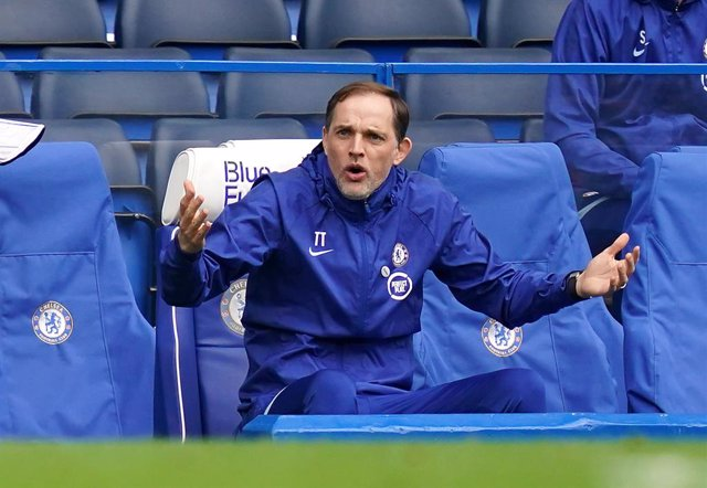 21 March 2021, United Kingdom, London: Chelsea manager Thomas Tuchel reacts during the English FA Cup quarter final soccer match between Chelsea and Sheffield United at Stamford Bridge. Photo: John Walton/PA Wire/dpa