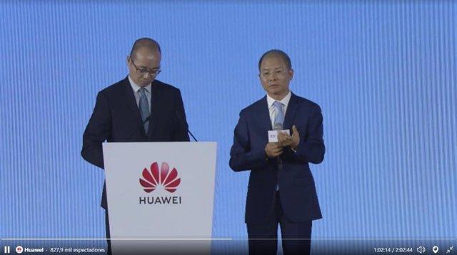 El presidente rotatorio de Huawei, Eric Xu