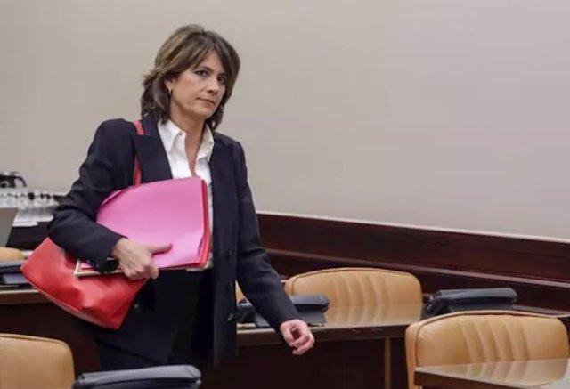 Archivo - Comparecencia de Dolores Delgado en la Comisión de Justicia del Congreso de los Diputados
