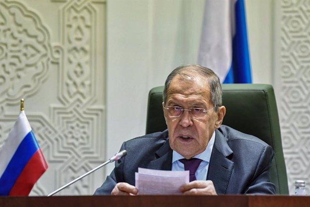 Archivo - El ministro de Asuntos Exteriores ruso, Sergei Lavrov