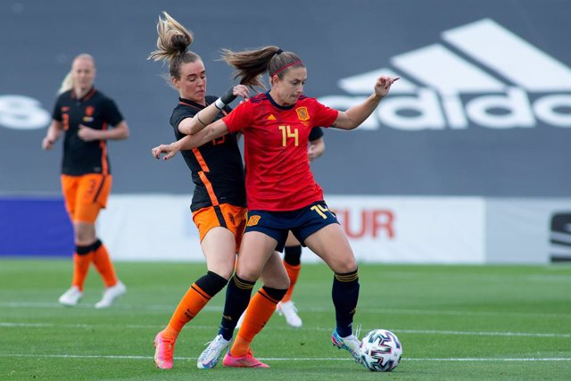 Alexia Putellas of Spain Team during Friendly women match between Spain Team and Netherlands Team at Municipal Marbella Stadium on April 9, 2021 in Malaga, Spain.