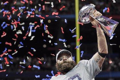 El receptor Julian Edelman, ganador de tres Super Bowls con los Patriots, anuncia su retirada