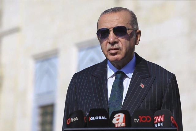 Archivo - El presidente de Turquía, Recep Tayyip Erdogan