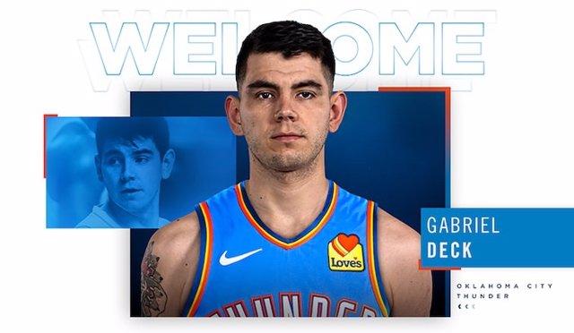 Oklahoma City Thunder confirma el fichaje de Gabriel Deck