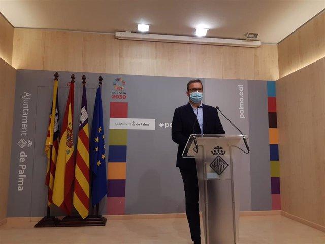 El alcalde de Palma, José Hila, en rueda de prensa.