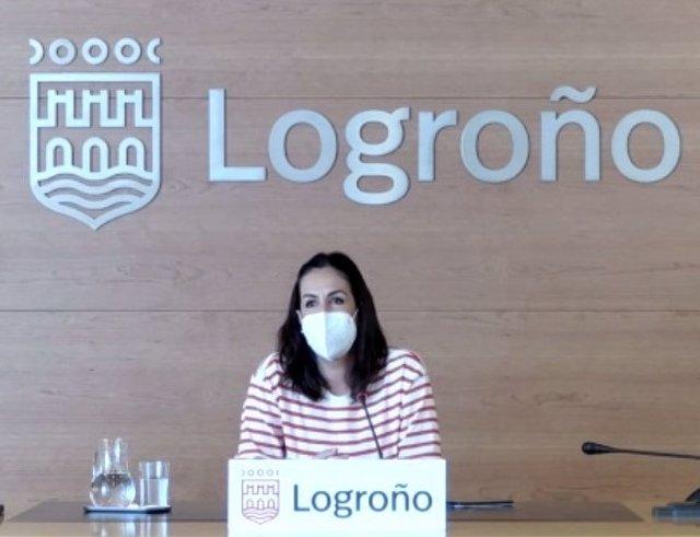 Esmeralda Campos, concejala de Economía, Hacienda, Comercio y Turismo del Ayuntamiento de Logroño