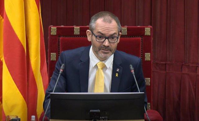 Archivo - El vivepresidente primero del Parlament, Josep Costa.