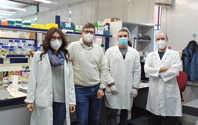 Miembros del equipo de investigación del IATA-CSIC que ha desarrollado la patente, con José Manuel Guillamón al frente (segundo por la izquierda).