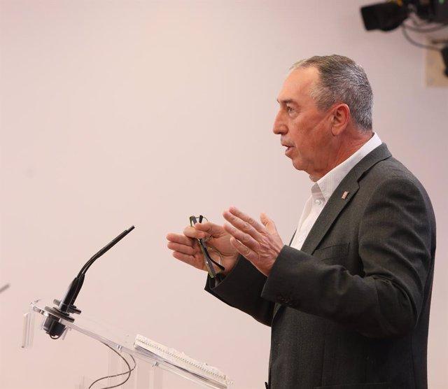 El diputat de Compromís en el Congrés, Joan Baldoví, intervé en una roda de premsa anterior a una Junta de Portaveus en el Congrés dels Diputats, a Madrid (Espanya), a 9 de març de 2021.