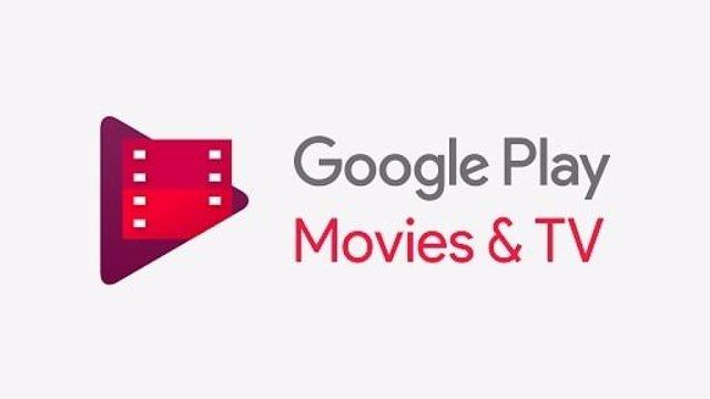 Logo en inglés de la aplicación de Google Play Películas