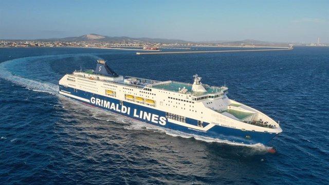 Archivo - Buque 'Cruise Barcelona' de Grimaldi Lines