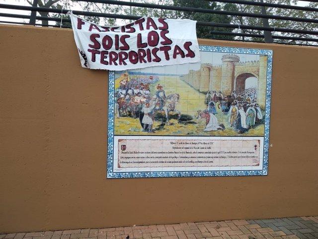 Mural sobre Alfonso IX de León, sufre un acto vandálico en Badajoz