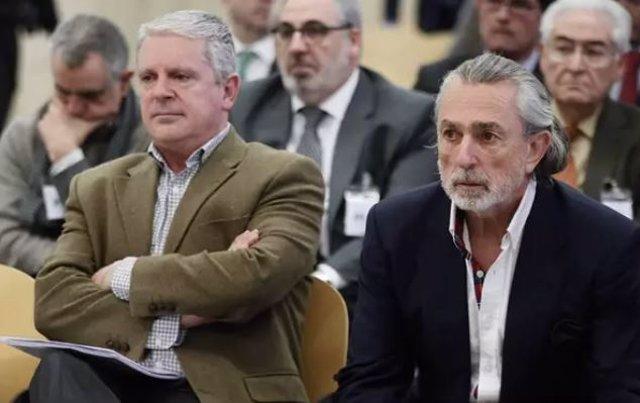 Archivo - Álvaro Pérez Alonso 'El Bigotes', Pablo Crespo y Francisco Correa en el juicio que se celebra en la Audiencia Nacional.