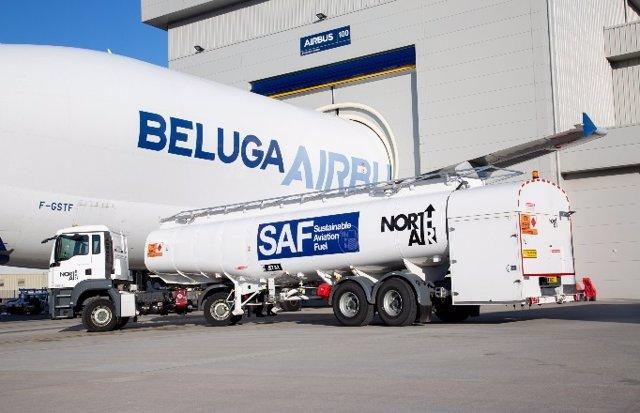 'Super Ransportador' Beluga De Airbus En La Planta De Broughton (Gales).