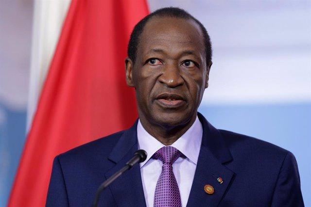 Archivo - El expresidente de Burkina Faso Blaise Compaoré