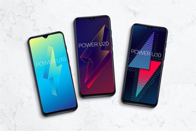 Los tres modelos de la nueva serie de móviles Power U