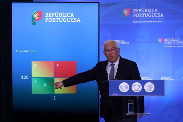 Archivo - 11 March 2021, Portugal, Lisbon: Portuguese Prime Minister Antonio Costa holds a press conference to announce the plan to ease the coronavirus restrictions at the Ajuda Palace. Photo: Pedro Fiuza/ZUMA Wire/dpa