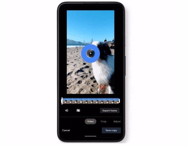 Nuevo editor de vídeo de Google Fotos.