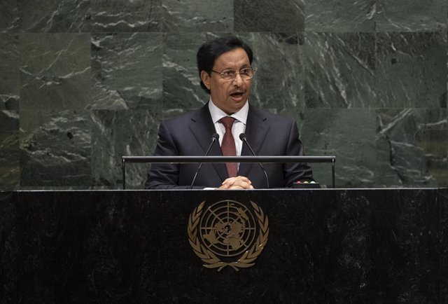 Archivo - FILED - 25 September 2019, US, New York: Jaber Al-Mubarak Al-Hamad Al-Sabah, then Prime Minister of Kuwait, delivers a speech during the 74th session of United Nations General Assembly at the UN headquarters. Al-Mubarak declined to be reappointe