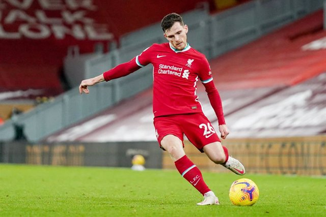 Archivo - Liverpool defender Andrew Robertson during the English championship Premier League football match between Liverpool and West Bromwich Albion on December 27, 2020 at Anfield in Liverpool, England - Photo Malcolm Bryce / ProSportsImages / DPPI