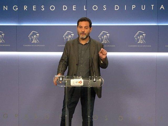 Archivo - El diputado de En Comú Josep Vendrell en el Congreso