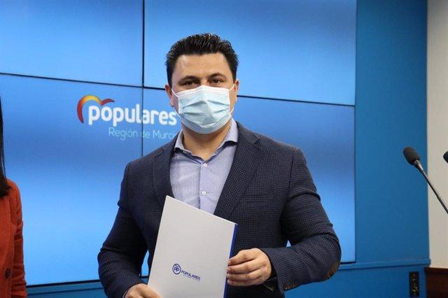 El secretario general del PP de la Región de Murcia, José Miguel Luengo