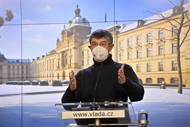 Archivo - 14 February 2021, Czech Republic, Prague: Czech Republic's Prime Minister Andrej Babis speaks during a press conference following a government meeting. Photo: Vít ?imánek/CTK/dpa