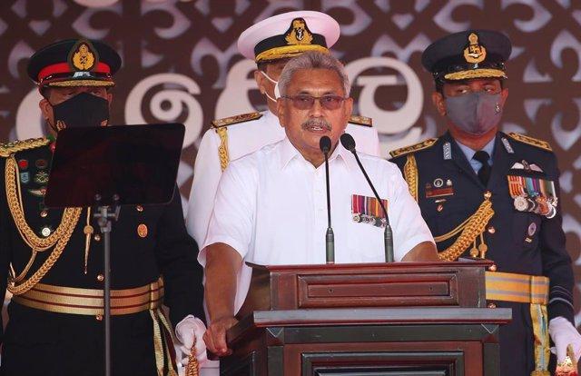 Archivo - El presidente de Sri Lanka, Gotabaya Rajapaksa