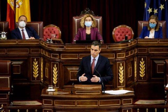 Archivo - Arxiu - El president del Govern, Pedro Sánchez, compareix en el Congrés.