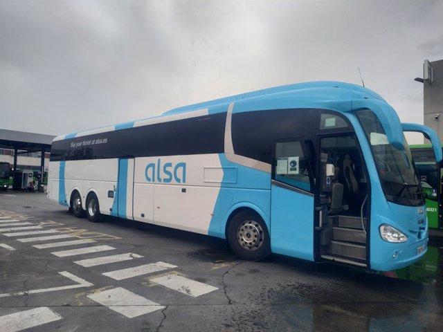 Autobús de Alsa transfronterizo