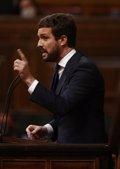 """Casado recrimina a Sánchez su reivindicación de la II República: """"Siempre intenta dividir, nosotros no vamos a hacerlo"""""""